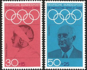 V) 1968 GERMANY, 19TH OLYMPIC GAME MEXICO CITY, FAMOUS PEOPLE, CARL DIEM, HELENE