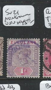 ZULULAND (P1807B) QV 1D  NONGOMA VIOLET CDS   VFU