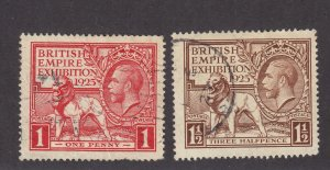 GB Scott # 203 - 204 Set VF used neat cancels nice color cv $ 113 ! see pic !