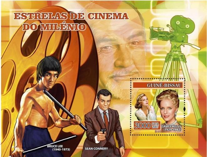 GUINEA BISSAU 2007 SHEET CINEMA BRUCE LEE SEAN CONNERY GRACE KELLY ACTORS