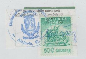 Costa Rica stamp revenue fiscal 2-10