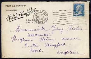France 1929 commercial cover to England from Hotel Louffl...