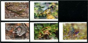 HERRICKSTAMP NEW ISSUES AUSTRALIA Wildlife Recovery Butterfly, Frog