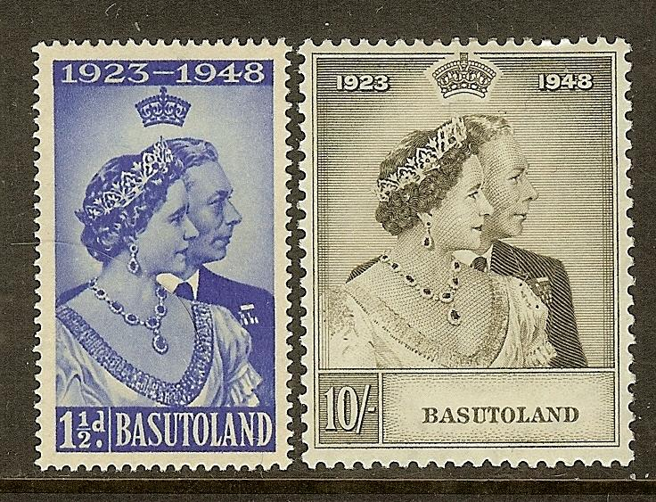 Basutoland, Scott #'s 39-40, King George VI Silver Wedding, MH