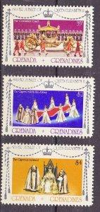 Grenada Grenadines MNH 213-5 Silver Jubilee QE II