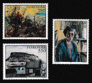 Faroe Is. Paintings 3v issue 1985 SG#115-117 SC#127-129