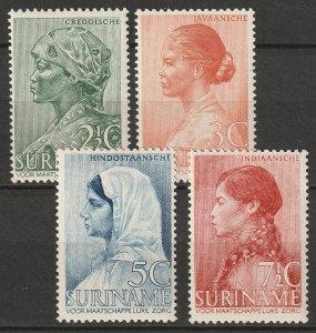 Suriname 1940 Sc B30-33 set MLH