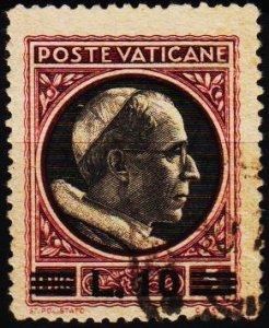 Vatican City. 1946 10L on 5L S.G.116 Fine Used