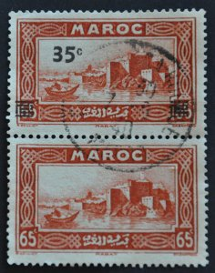 DYNAMITE Stamps: French Morocco Scott #176a - USED