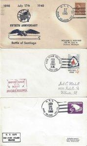 US Naval Cover USS Pine Island AV 12  1948, 1961, 1966