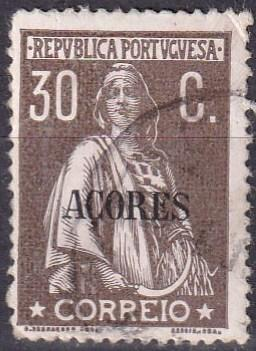 Azores #167  F-VF Used  CV $60.00 (A19447)