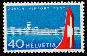 Switzerland Stamp 1953 Commissioning of the Zurich Airport MH/OG STAMP