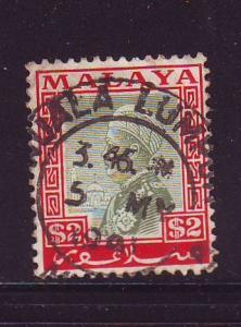 Malaya Selangor 58 1936 $2 Sulaiman stamp used