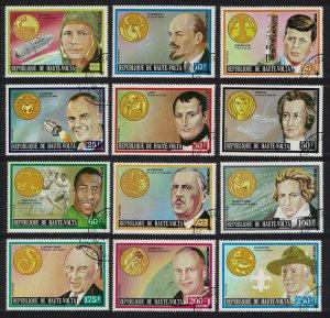 Upper Volta Gagarin Lenin Zodiac Famous Persons 12v 1973 CTO MI#483-494