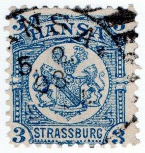 (I.B-CK) Germany Local Post : Strassburg 3pf (Hansa)