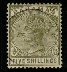 BAHAMAS SG56 1884 5/= SAGE-GREEN USED