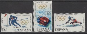 SPAIN SG1909/11 1968 WINTER OLYMPIC GAMES MNH