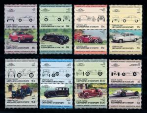 [75867] Union Isl. Gren. St. Vincent 1985 Classic Cars Datsun Fiat 8 Pairs MNH