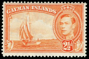 CAYMAN ISLANDS SG120a, 2½d orange, NH MINT.