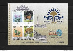 RO) 2000 INDIA, INDEPEX ASIANA 2000-CALCUTA, SIROI LILY-DEER-WILD GUAVA