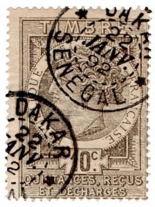 (I.B) France Colonial Revenue : Senegal Duty 10c (Quittances)