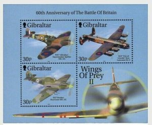 2000  GIBRALTAR  -  SG. 949a  -  WINGS OF PREY  - 2nd series   -  MNH - PLANES