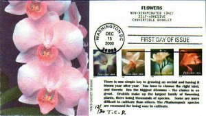 Toms Cachets 3457B Flowers 4 Stamps Convertible Booklet