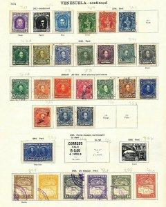 VENEZUELA 1880s/1930s M&U On Ideal Pages(60+Items)BT352