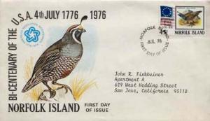 Norfolk Islands, First Day Cover, Birds