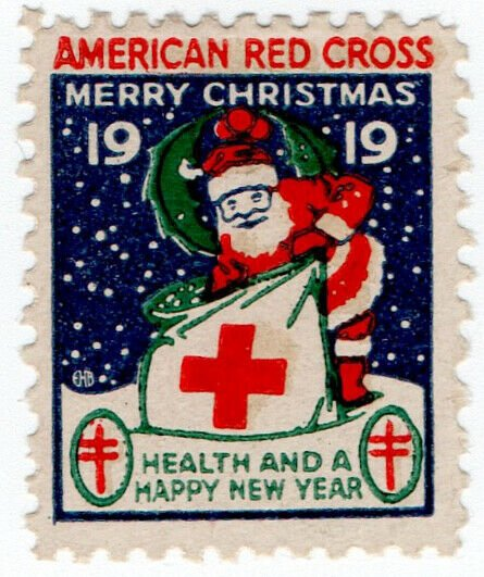 (I.B) US Cinderella : Red Cross Christmas Seal (1919)