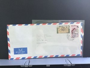 Mauritius Air Mail England stamps cover R31110