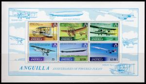 Anguilla 1979 Sc#360a CONCORDE/GRAF ZEPPELIN/HISTORY OF AVIATION S/S MNH