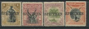 North Borneo 1897-1900 Surcharges SG 92s, 96s, & 100s SPECIMEN overprints