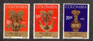 Colombia - Sc# C495 - C497 MH (pencil on back)    /    Lot 1020423