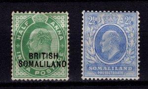 British Somaliland 1903 / 1905-11 Edward VII definitives [Unused]