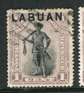 LABUAN; 1894 classic Pictorial issue fine used 1c. value