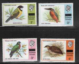 Solomon Islands Scott 296-299 Overprint Bird stamps
