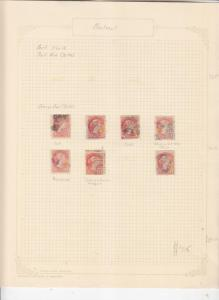CANADA, Small Queen, 3c., various on old album page, used. (7)