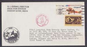 STS-7 Challenger Shuttle Orbiter Launch Cover, Guam Tracking Station cancel