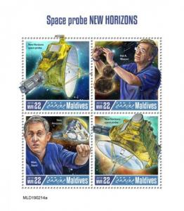 MALDIVES - 2019 - Space Probe New Horizons - Perf 4v Sheet - MNH