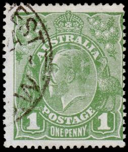 Australia Scott 62, Die 1, Dull Green (1924) Used F-VF, CV $9.25 M