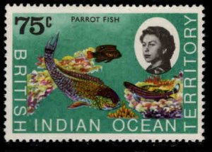 British Indian Ocean Territory BIOT Scott 26 MH*Parrot Fish stamp