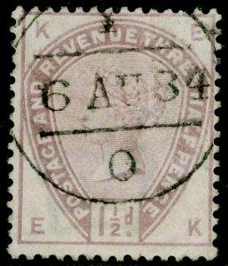 SG188, 1½d lilac, USED. Cat £45. EK