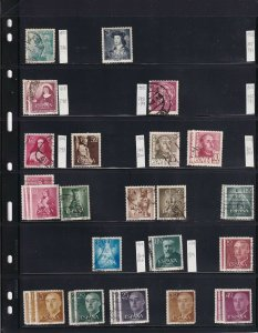 SPAIN 4 STOCK PAGES COLLECTION LOT 1952+ SOME MINT HINGED
