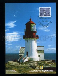 209482 NORWAY Lindesnes LIGHTHOUSE maximum card