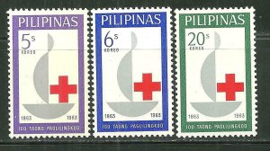 Philippines MNH 886-8 Centennial International Red Cross