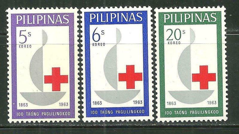 Philippines MNH 886-8 Centennial International Red Cross