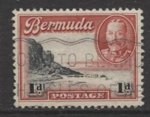 Bermuda - Scott 106 - South Shore - 1936 - FU - Single - 1d Stamp