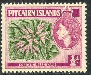 PITCAIRN ISLAND 1963 1/2d TI PLANT Wmk 314 Sc 38 MH