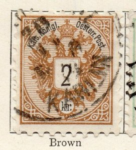 Austria 1883 Early Issue Fine Used 2kr. NW-11541